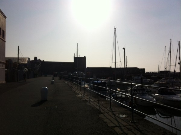 A view back to the castle from the marina