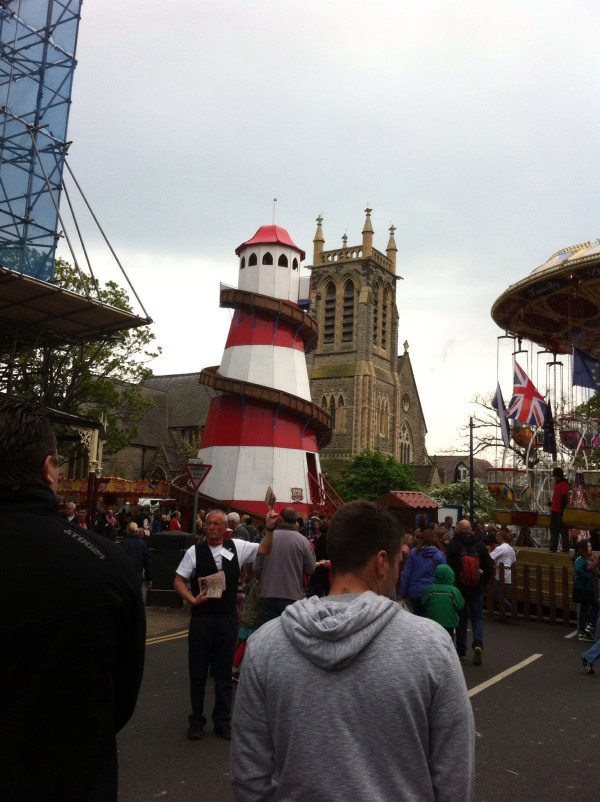 A helter skelter! I've learned not to go on this as you get proper friction burns on the way down!