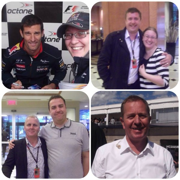 Mark Webber David Croft Johnny Herbert Martin Brundle
