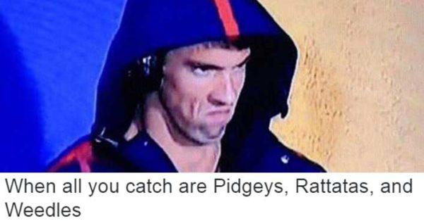 Phelps Rio 2016 Pokemon Meme