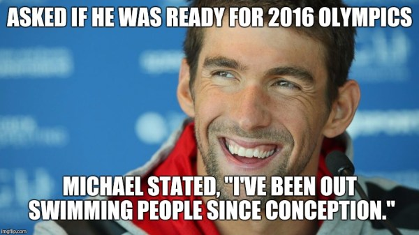 Phelps Ouswims everyone since conception
