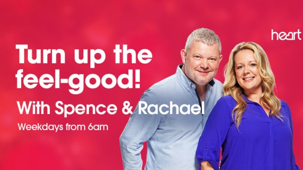 Heart Breakfast Presenters Spence and Rachael