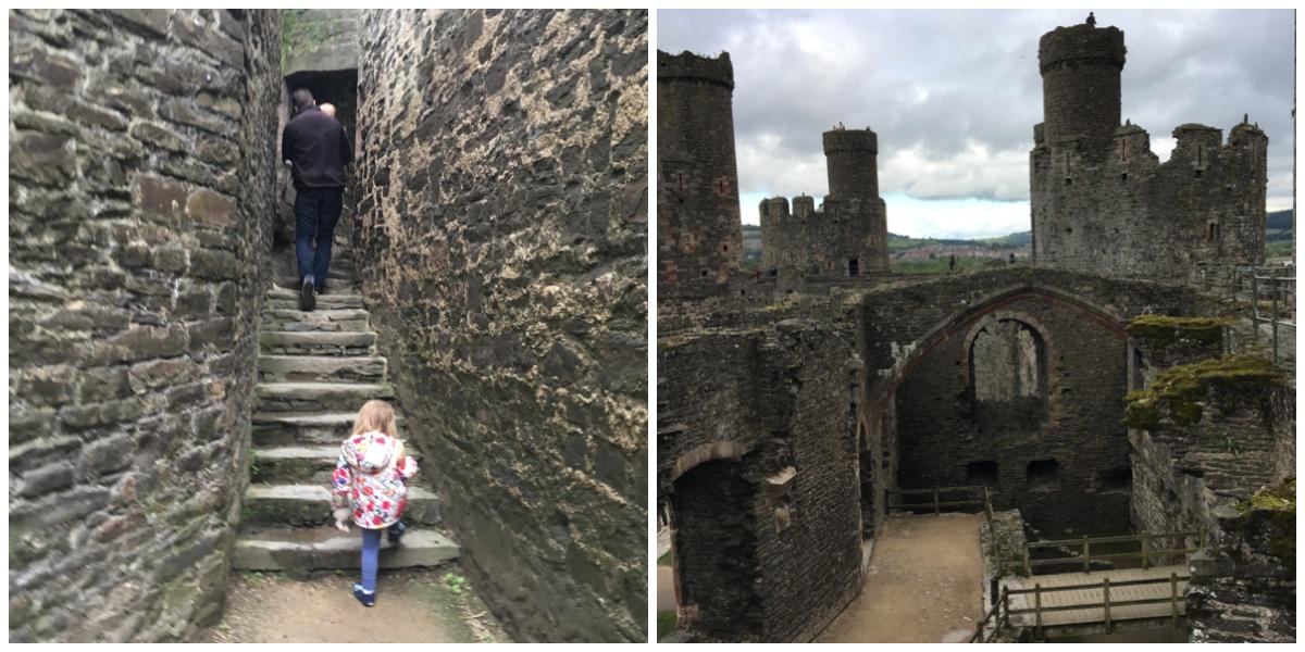 Exploring Conwy Castle