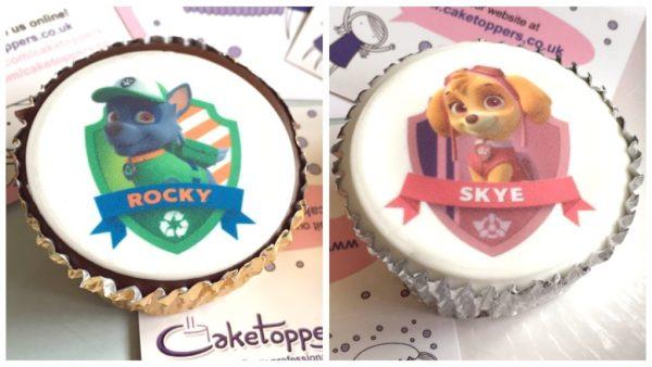 Caketoppers - Rocky & Skye cakes
