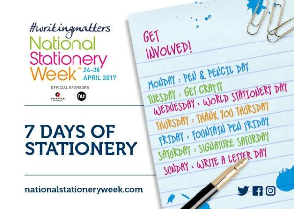 National Stationery Week 2017