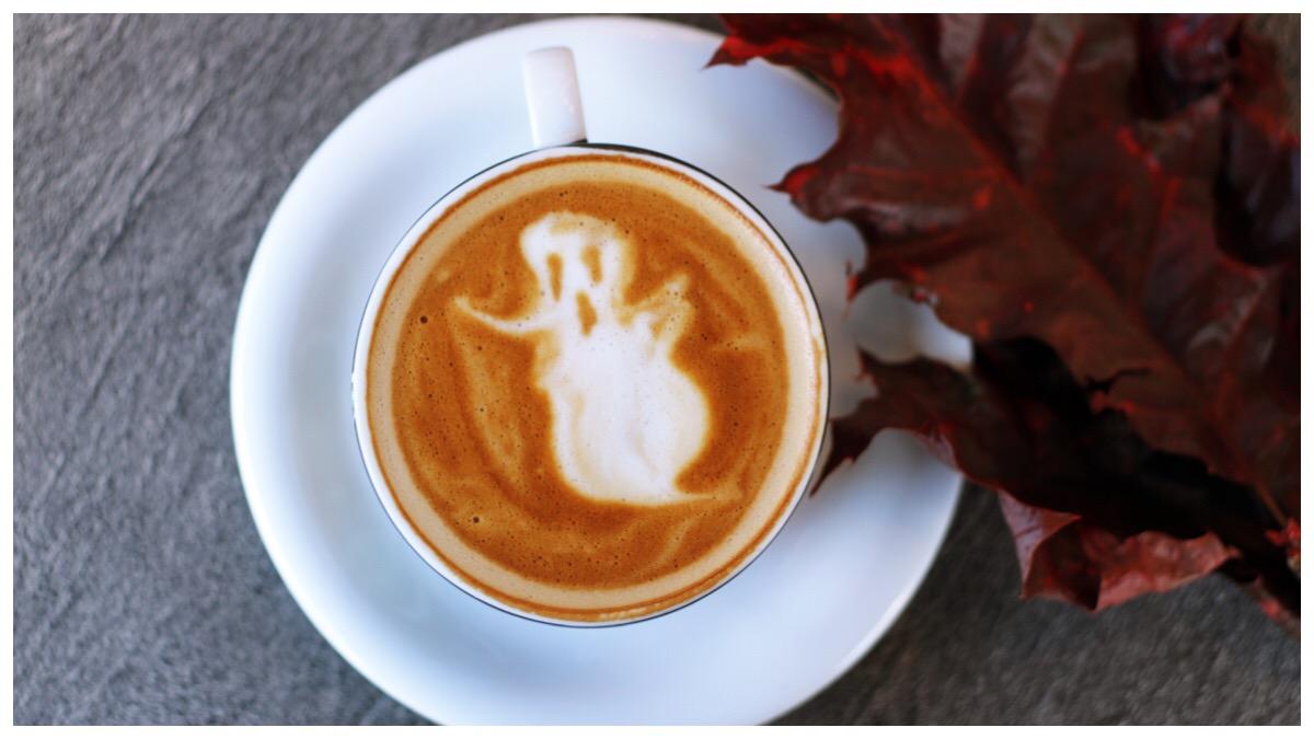 Ghost in a coffee mug