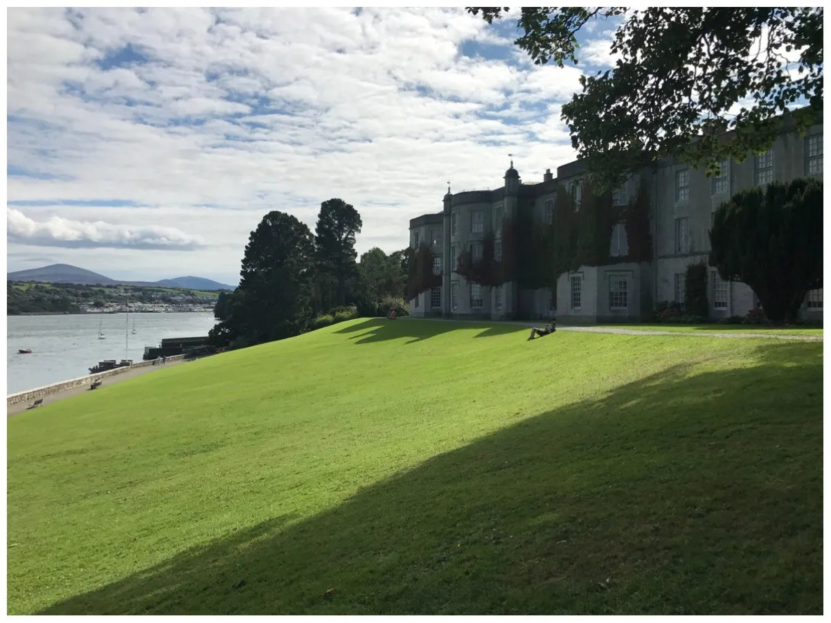 A view of the Plas Newydd house on the banks of the Menai Strait, on a beautiful sunny day.