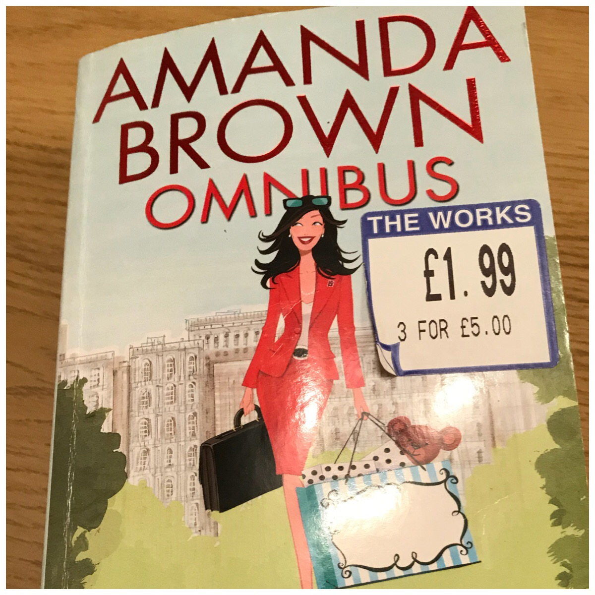 "Photo of the cover of the Amanda Brown Omnibus book with a ""The Works"" £1.99 sticker on it"