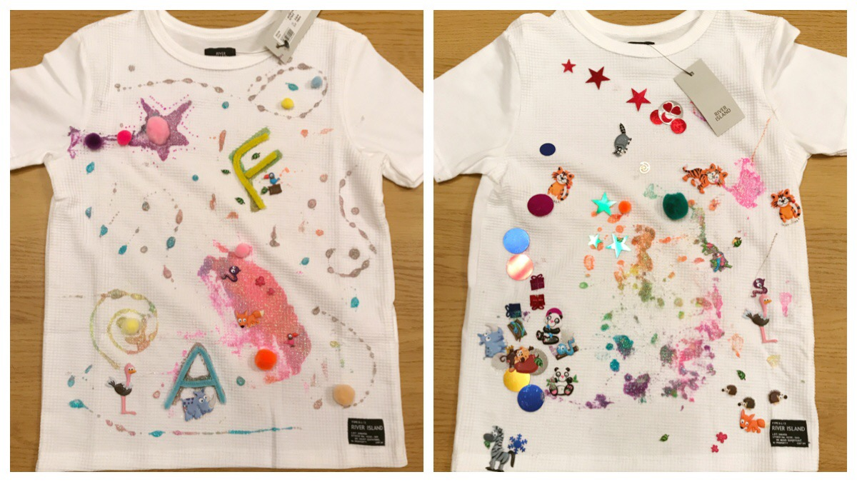 Final designs of the two t-shirts