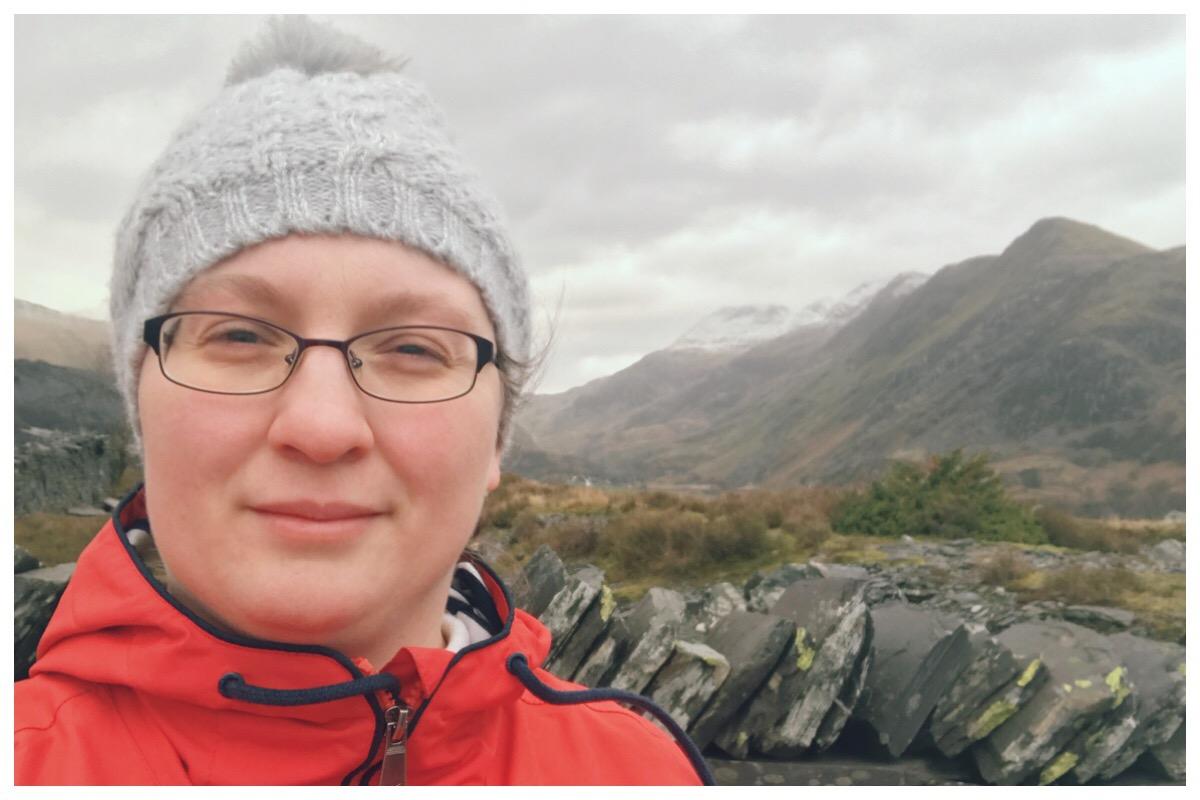 A selfie in front of Snowdon