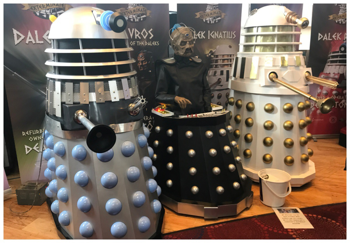 Three daleks at the Sci Fi Weekender