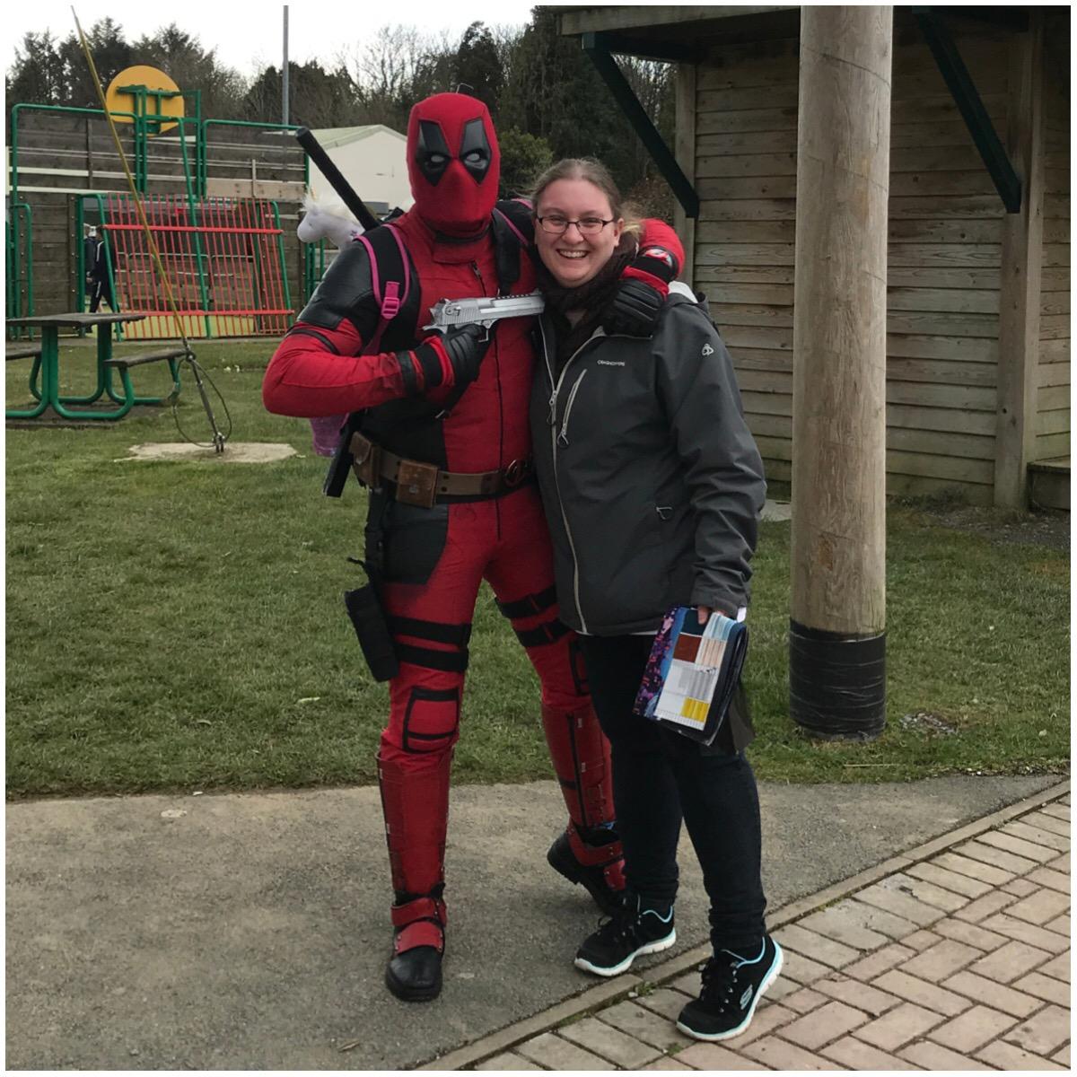 Me meeting Deadpool at Sci Fi Weekender