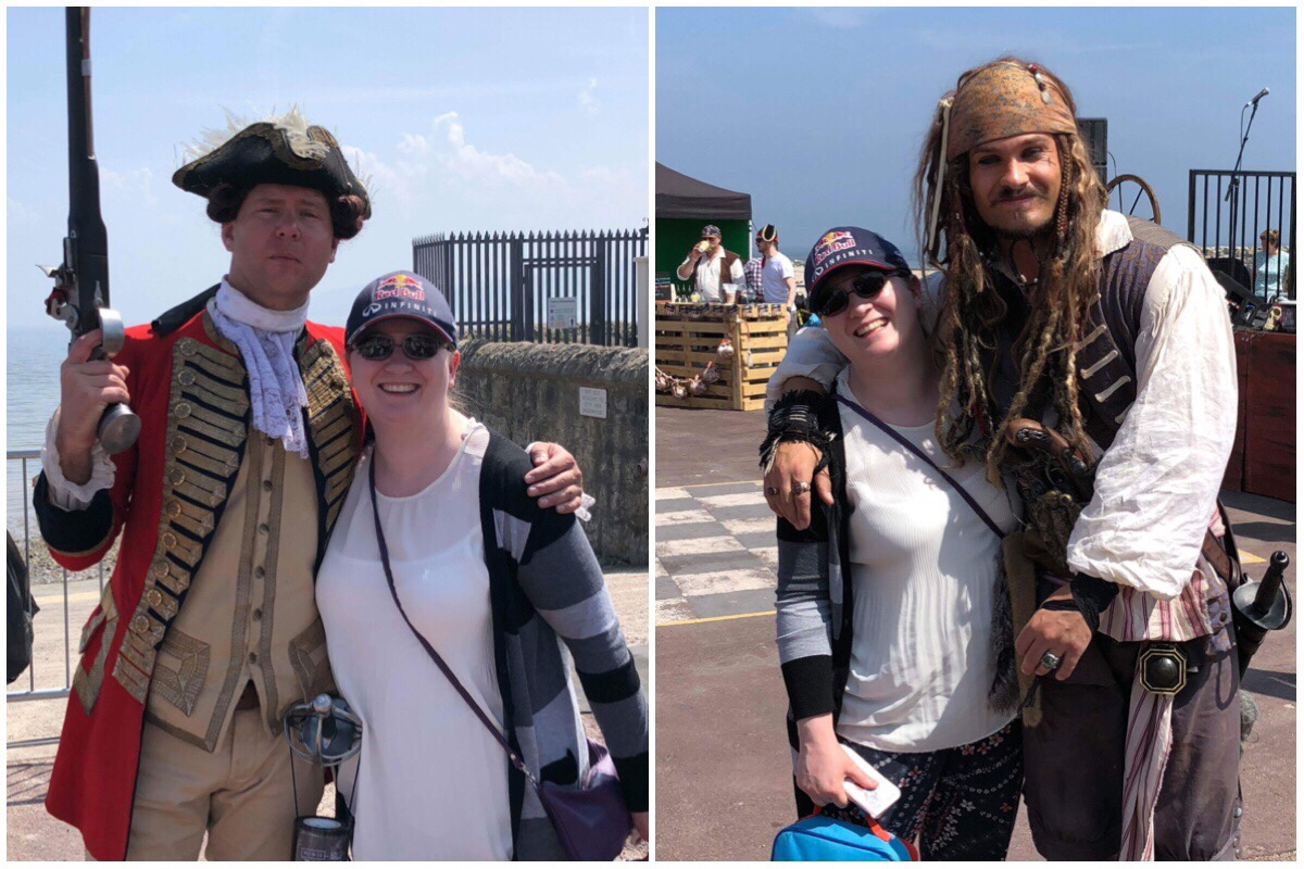 me with Jack Sparrow and with Commodore Norrington