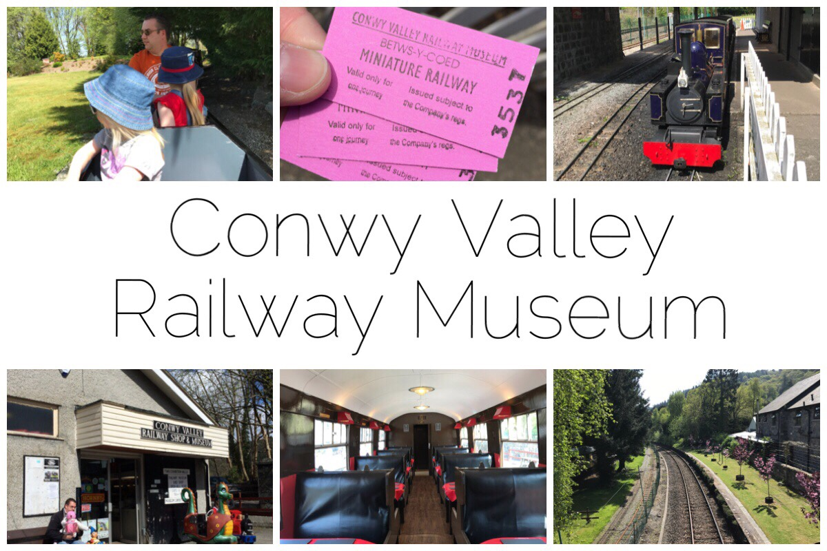 Six different images of the Conwy Valley Railway Museum