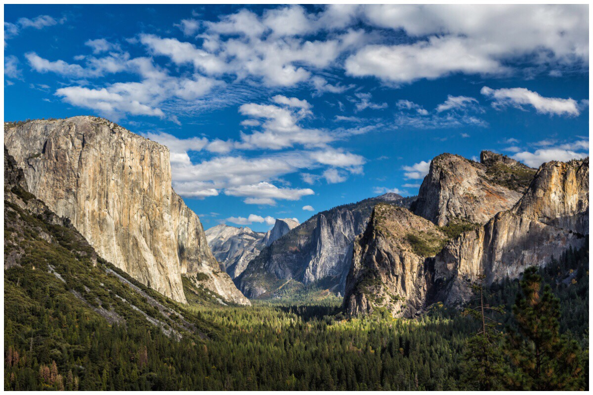 The view of Yosemite National Park