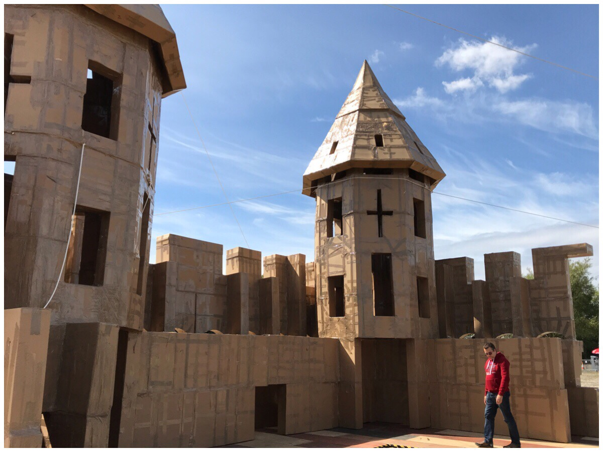 The cardboard castle at Knowsley Sfaari Park