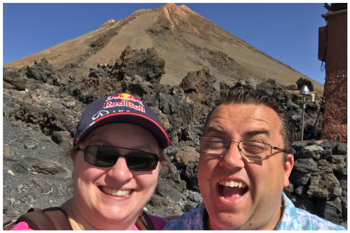Me and the husband at Mount Teide, Tenerife