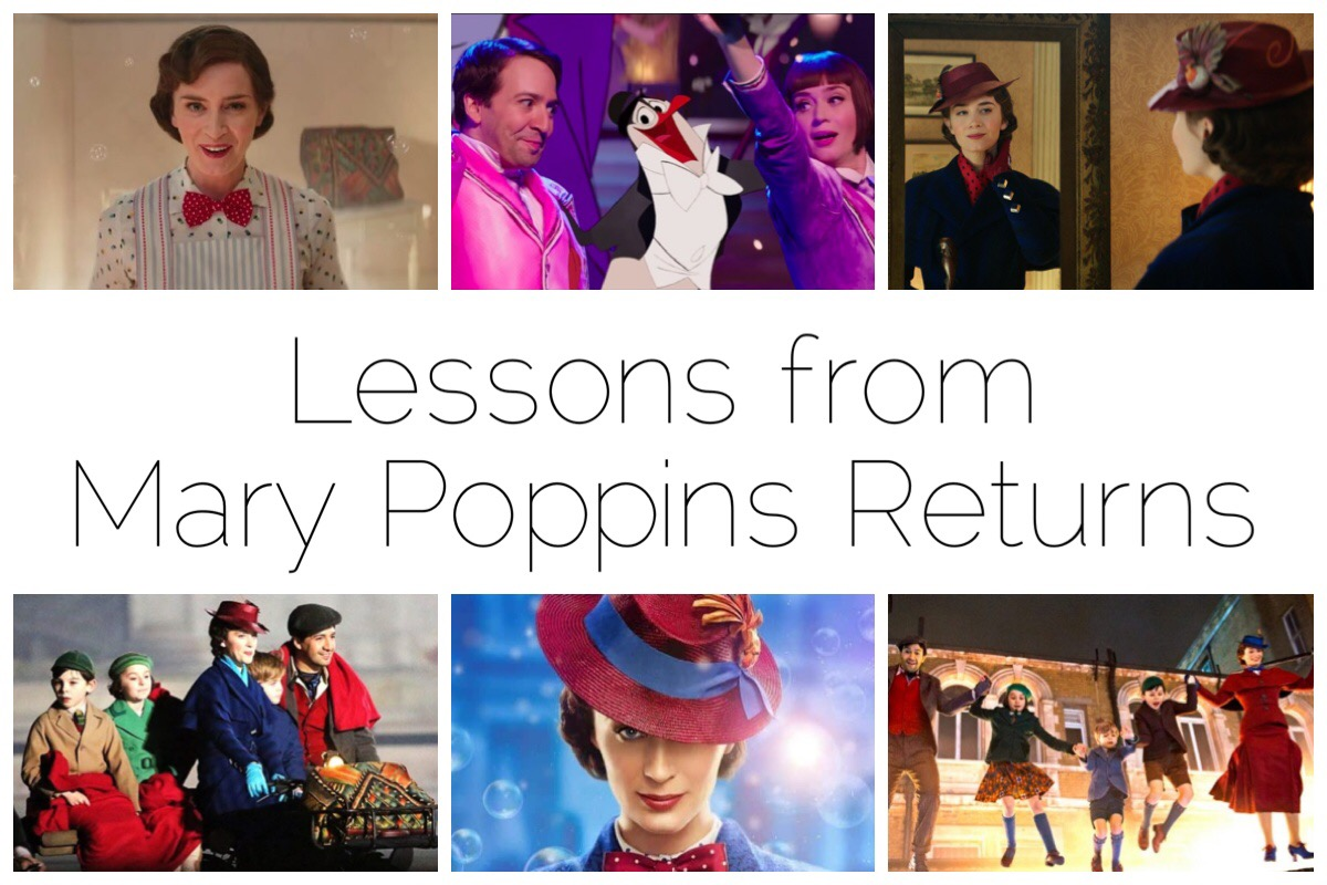 Six different images from Mary Poppins Returns