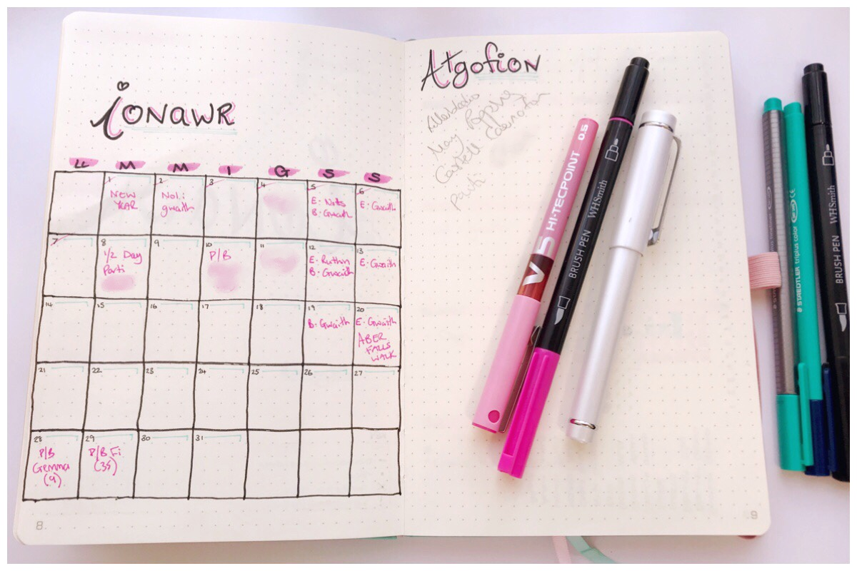 2019 Bullet Journal Setup (with free printable) - Becster com