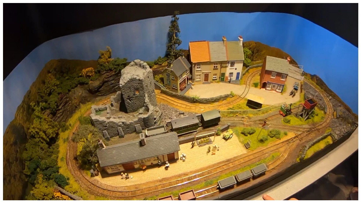 Model railway at the exhibition at the National Slate Museum