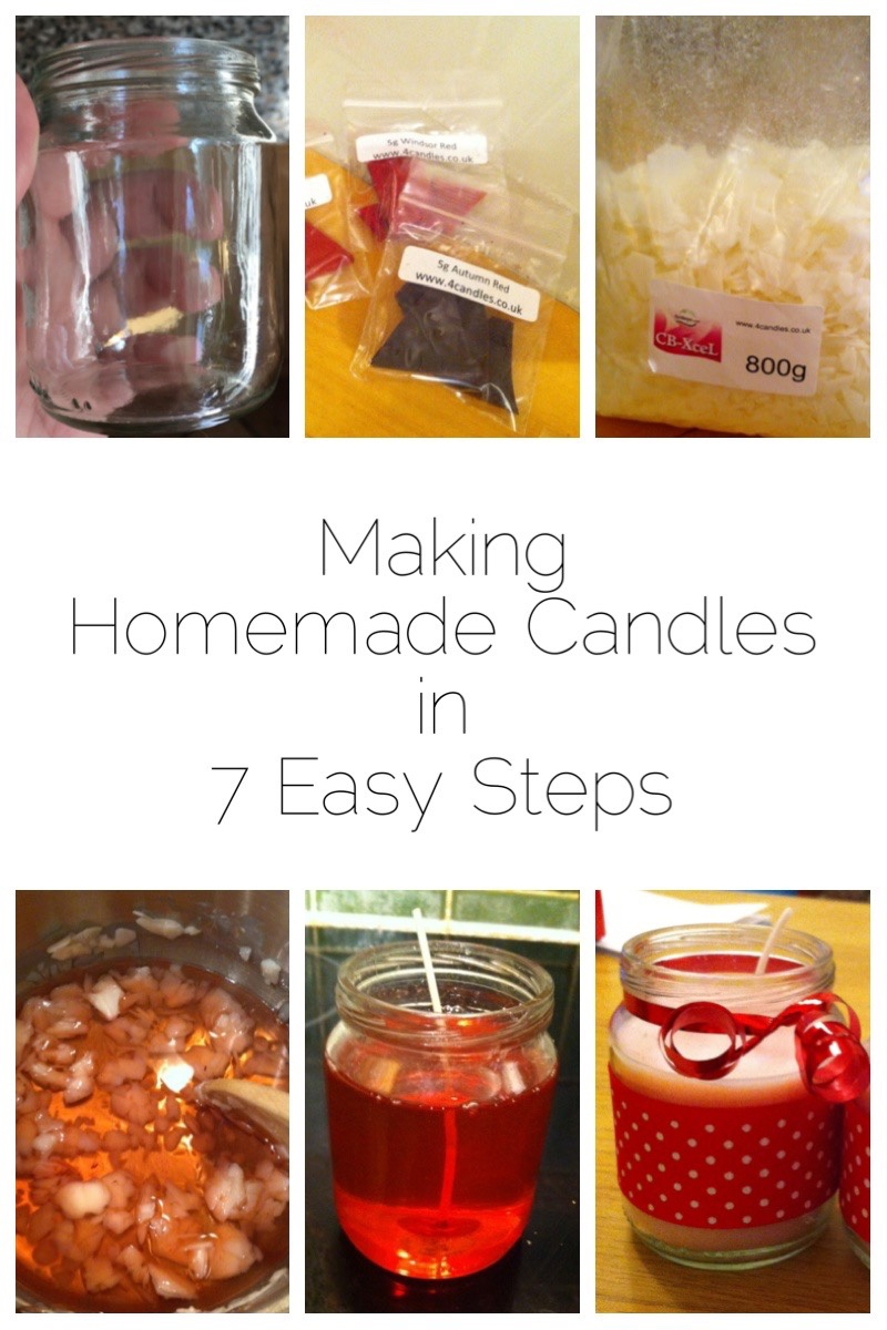 Homemade Scented Candles - making your own homemade scented candles in 7 easy steps
