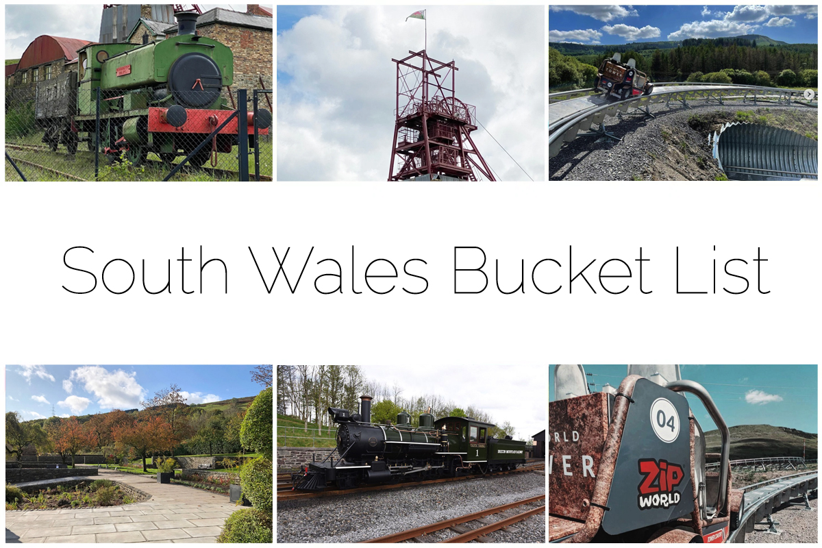South Wales Bucket List - six different images of the area