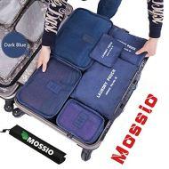 51JJdpV unL - Mossio 7 Set Packing Cubes with Shoe Bag - Compression Travel Luggage Organizer