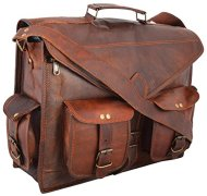 51FRo3U SZL - Handmadecraft ABB 18 Inch Vintage Handmade Leather Messenger Bag for Laptop Briefcase Satchel Bag