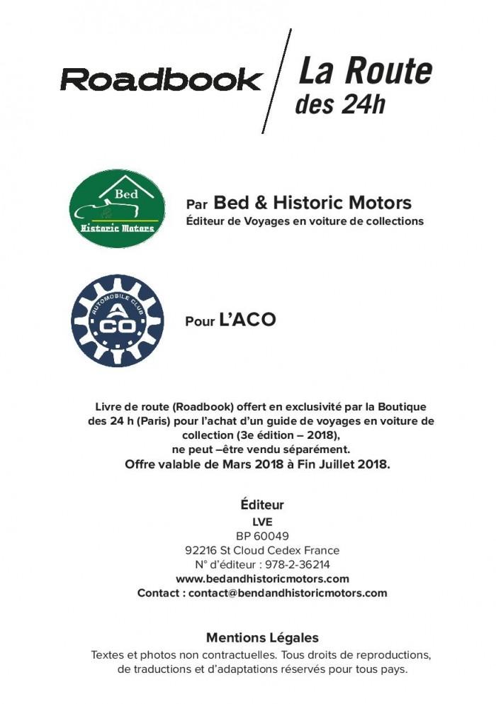 Roadbook de La route des 24 h du Mans