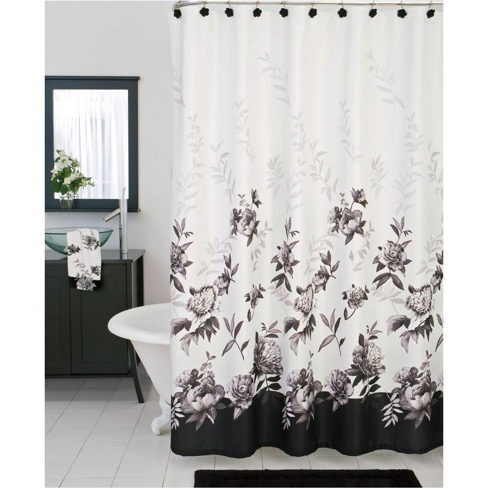 Bathroom Shower Curtain Lenox Moonlit Garden Shower Curtain And Bath Accessories