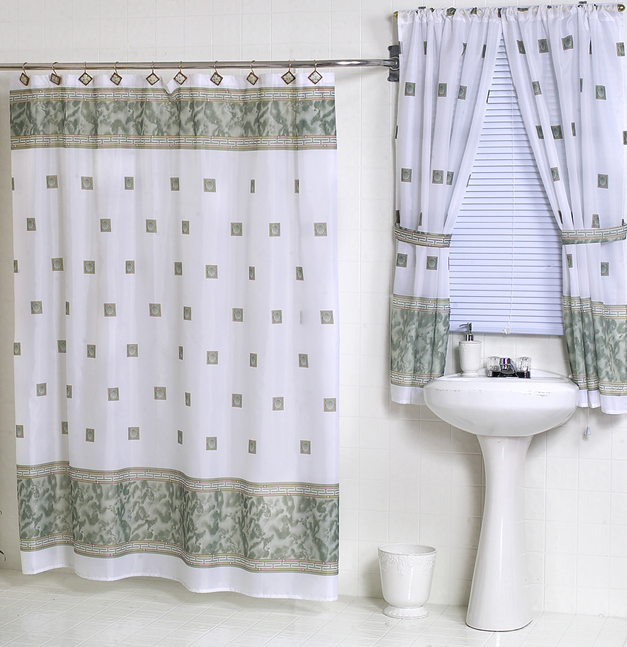 Bathroom Shower Curtain Windsor Jade Green Fabric Shower Curtain W Available Matching Window Curtain