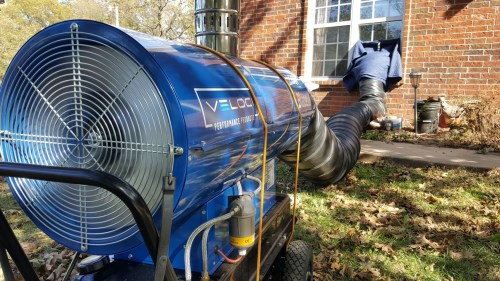 Bed Bug Heat Remediation Outside View Pictured