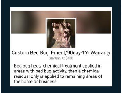 Custom bed bug treatment Dead Bug Walkin LLC