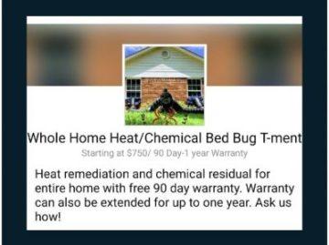 Whole home heat/ chemical bed bug treatment Dead Bug Walkin LLC.