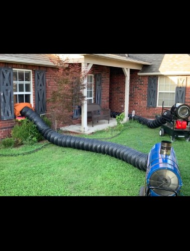 Our bed bug heat treatment service in action at our clients home North of Tulsa OK.