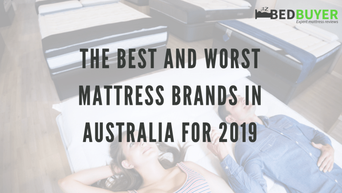Mattress Brand Reviews >> Best Mattress Brands In Australia In 2019 Bedbuyer Review