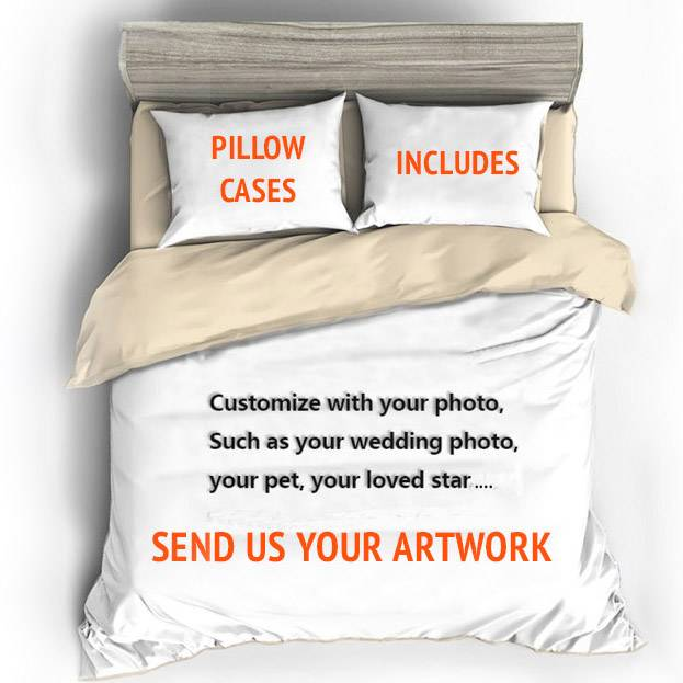 custom made duvet cover printed with your own photo or design
