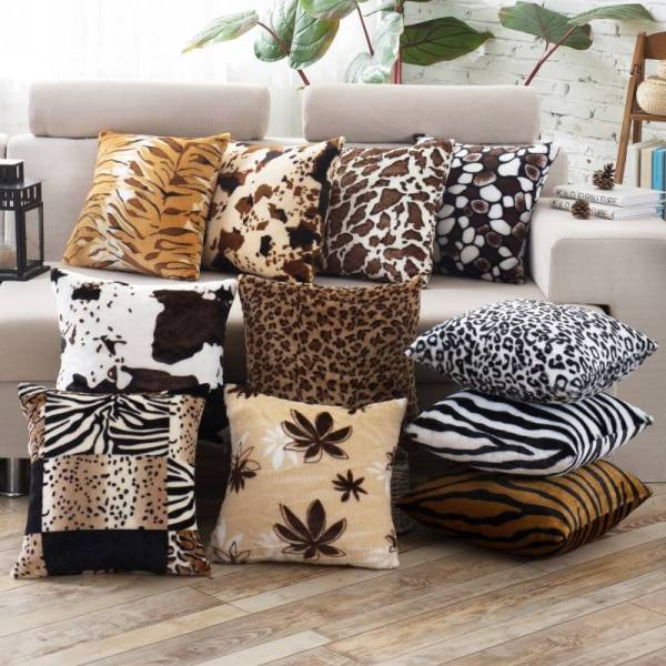 Leopard Dots Leaf Pattern Soft Velvet Animal Printed