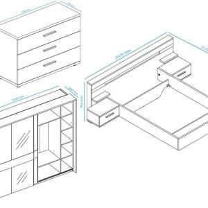 Complete slaapkamer JODY I 180x200 cm pesaro