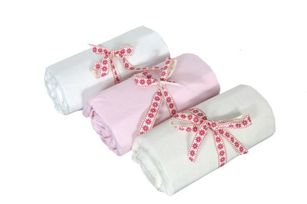 Hoeslaken voor Babyledikant Roze, 120x 65cm, Zachte Jersey Katoen