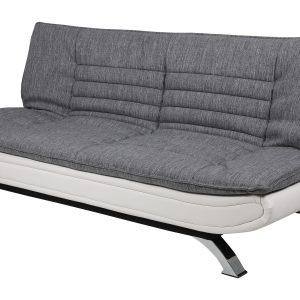Bendt Slaapbank 'Oliver' PU-leder / textiel, kleur grijs