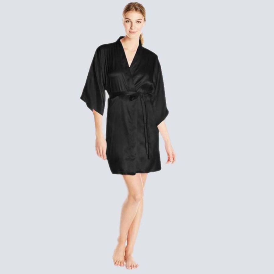 Silk nightgown black
