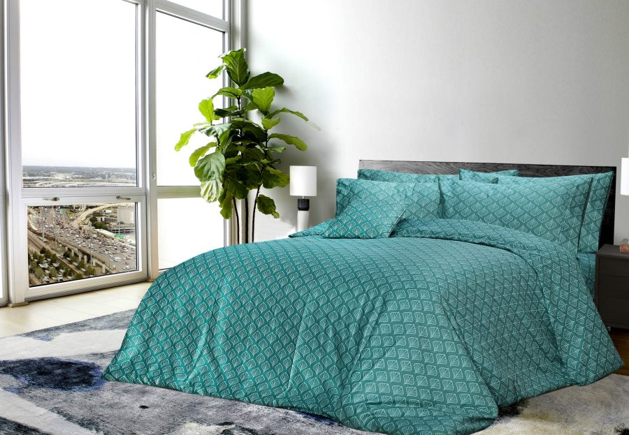 6 Pcs Printed Sateen Quilt Cover - Arshe