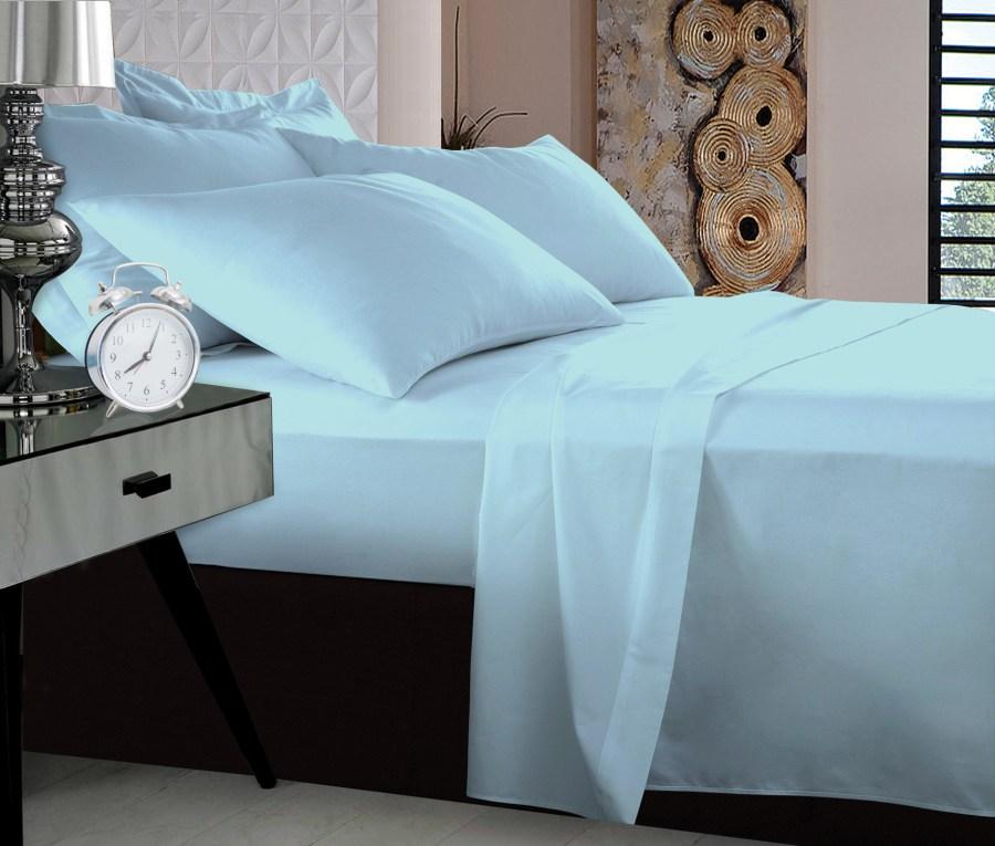 1000TC Pure Egyptian Cotton Sheet Set - Pale Blue