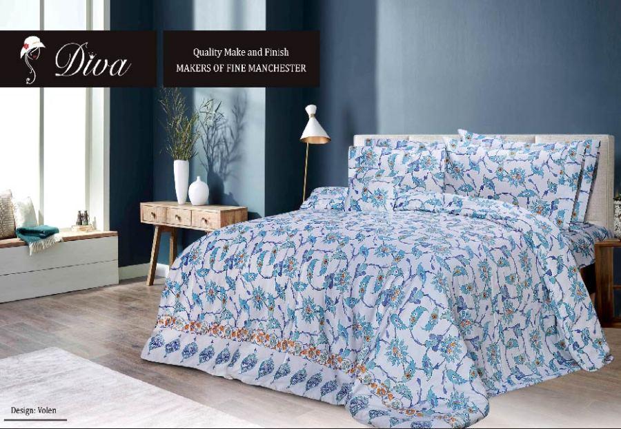6 Pcs Printed Sateen Quilt Cover - Volen
