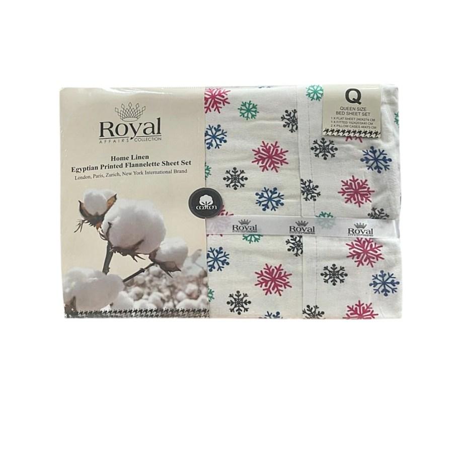 100% Pure Cotton Cozy Winter Flannelette Sheet Sets Design-Quena~FREE POSTAGE~