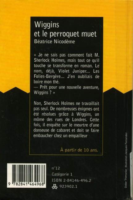 Wiggins Et Le Perroquet Muet : wiggins, perroquet, Ferrandez-, Wiggins, Perroquet