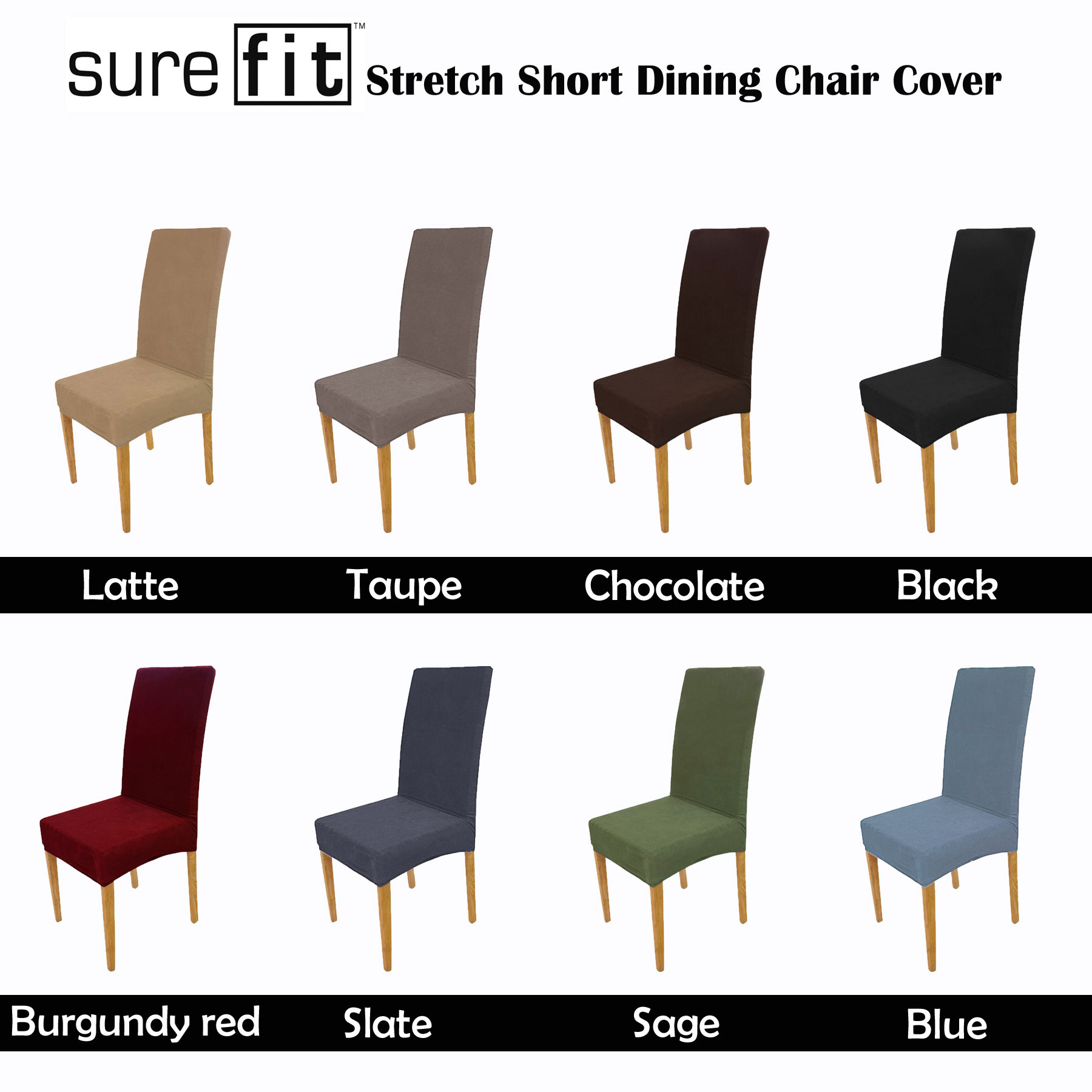 Surefit Chair Covers Details About Color Choice Surefit Stretch Short Corduroy Dining Chair Cover Machine Washable