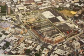 Outline of proposed construction site.