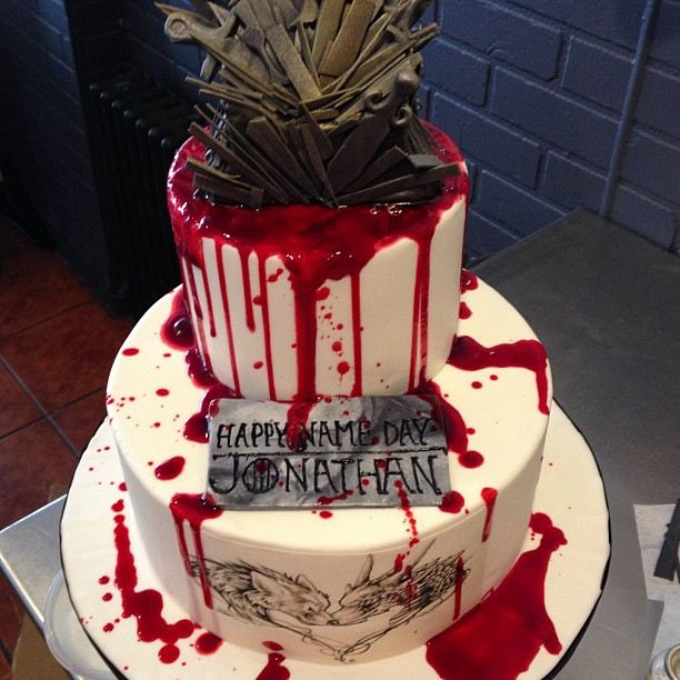 Check Out This Blood Spattered Game Of Thrones Birthday Cake
